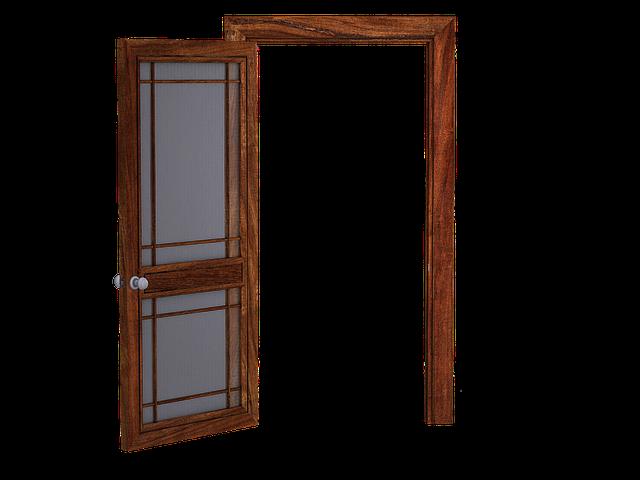 dveře skleněné