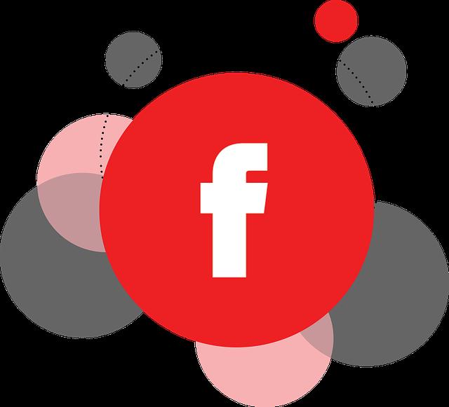 červená značka facebooku